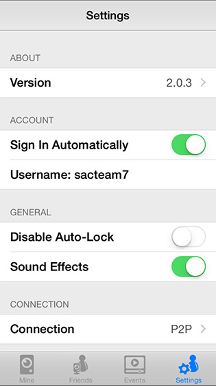 Mobile App Settings