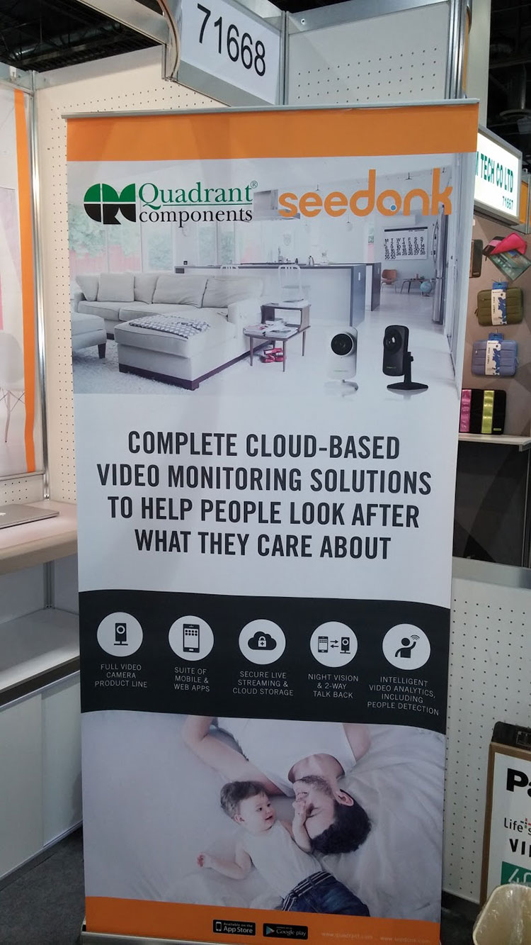 Seedonk banner at CES 2015
